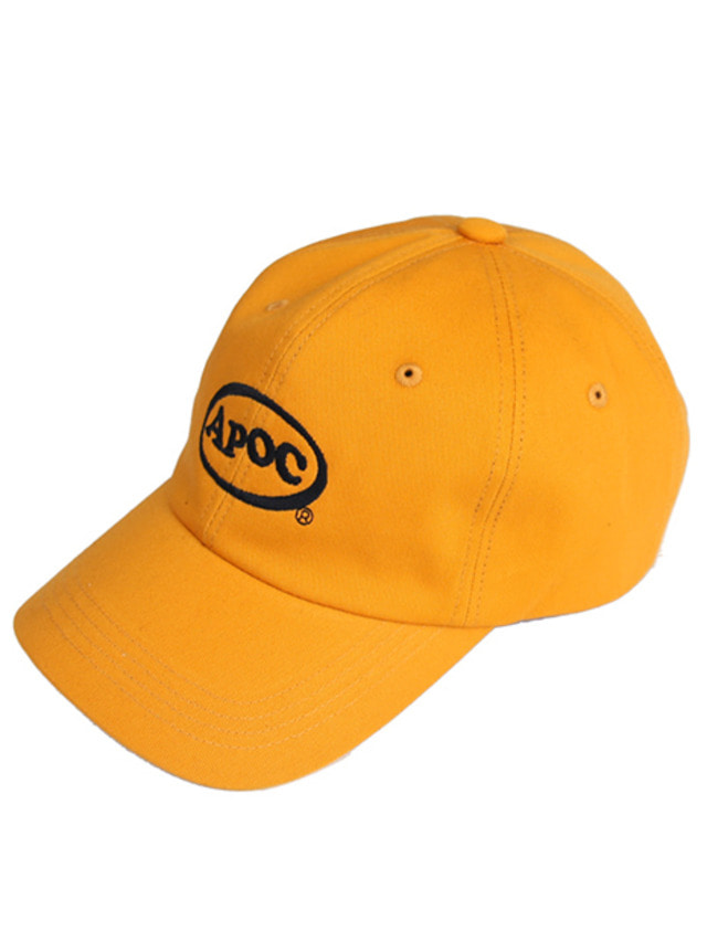 [A PIECE OF CAKE]Oval Logo Baseball Cap_Mustard