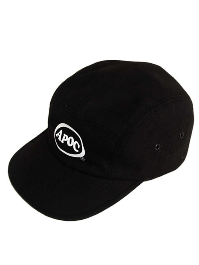 [A PIECE OF CAKE]Oval Logo Camp Cap_Black