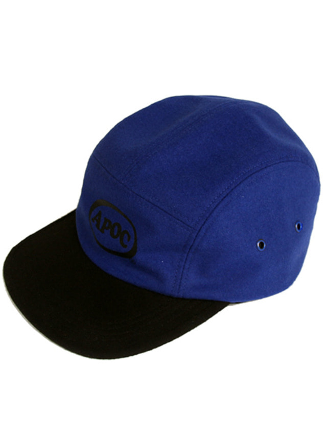 [A PIECE OF CAKE]Oval Logo Camp Cap_Blue