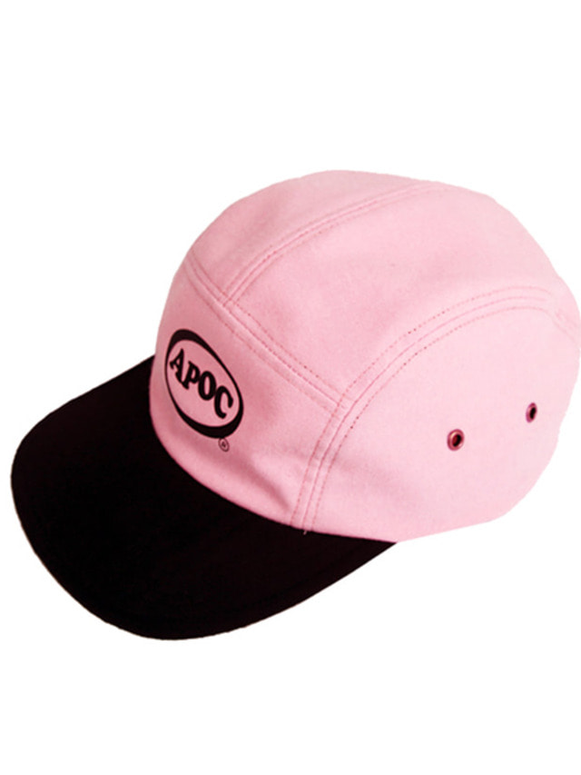 [A PIECE OF CAKE]Oval Logo Camp Cap_Pink