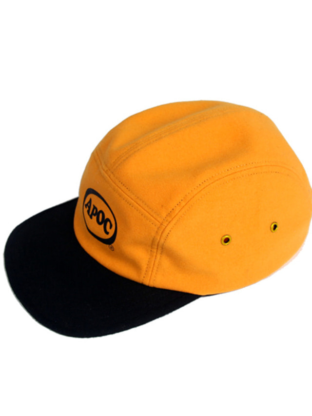 [A PIECE OF CAKE]Oval Logo Camp Cap_Yellow