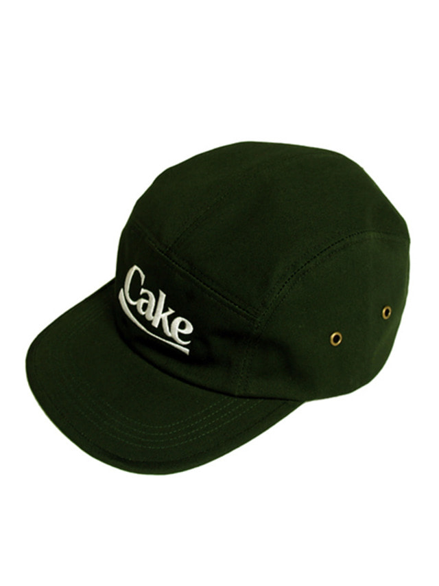 [A PIECE OF CAKE]Cake Logo Camp Cap_Green