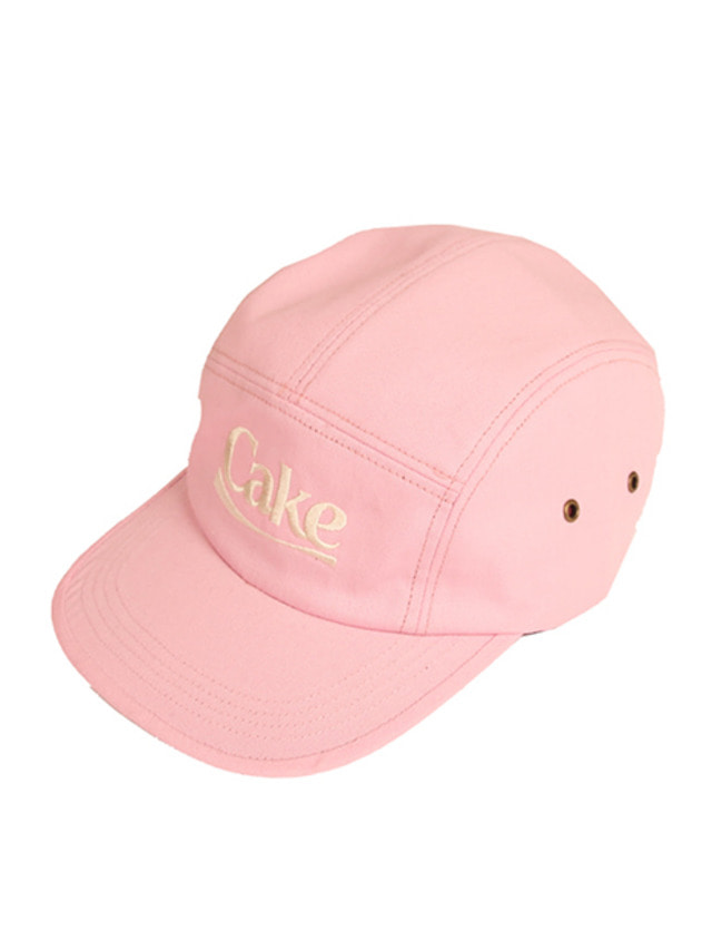 [A PIECE OF CAKE]Cake Logo Camp Cap_Pink