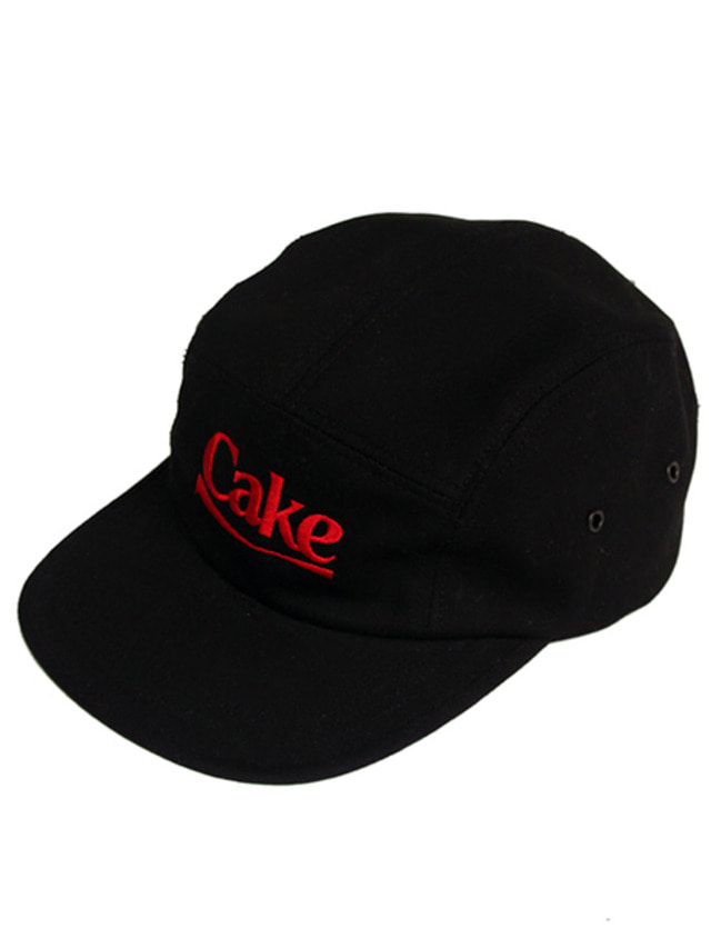 [A PIECE OF CAKE]Cake Logo Camp Cap_Black