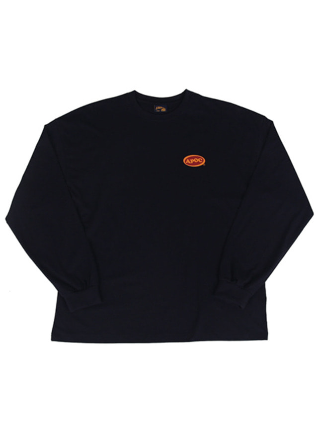 [A PIECE OF CAKE]Oval Logo Longsleeved T-shirts_Navy