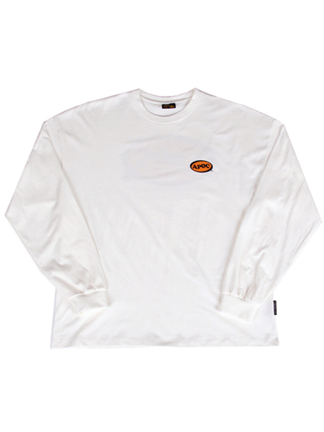 [A PIECE OF CAKE]Oval Logo Longsleeved T-shirts_Offwhite