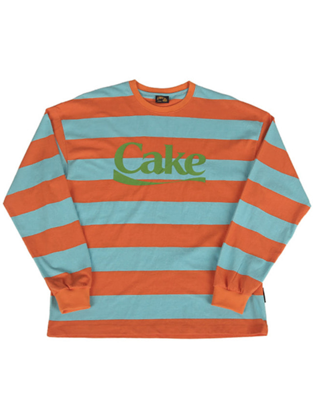[A PIECE OF CAKE]Cake Stripe Longsleeved T-shirts_Orange
