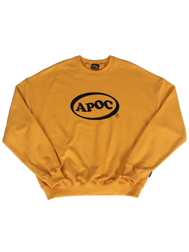 [A PIECE OF CAKE]Oval Logo Crewneck_Yellow