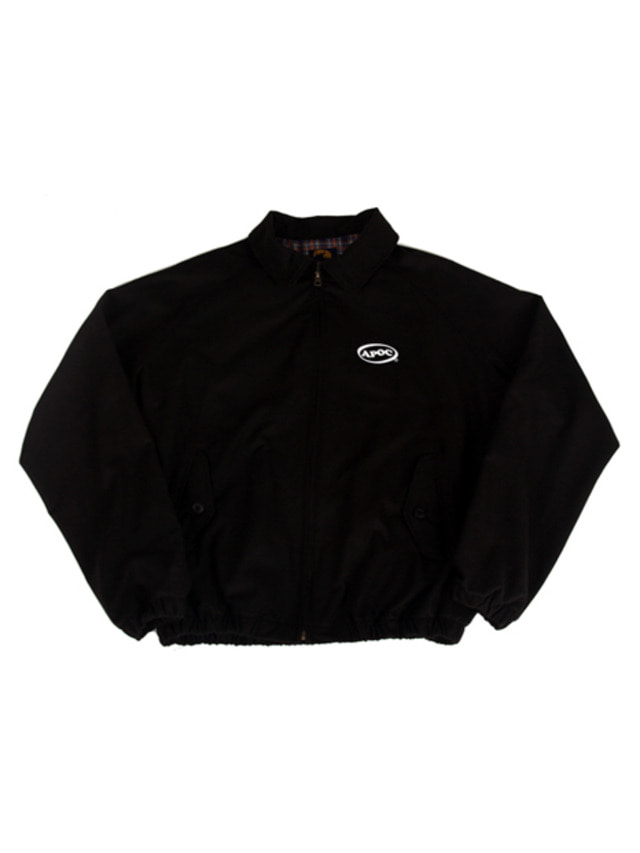 [A PIECE OF CAKE]Oval Logo Blouson_Black