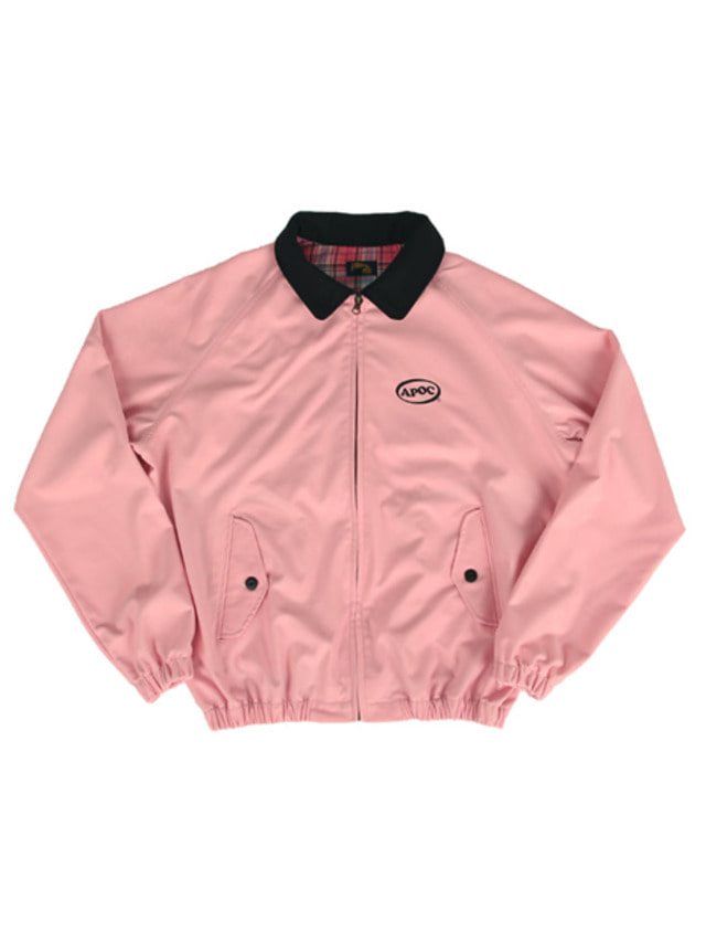 [A PIECE OF CAKE]Oval Logo Blouson_Pink