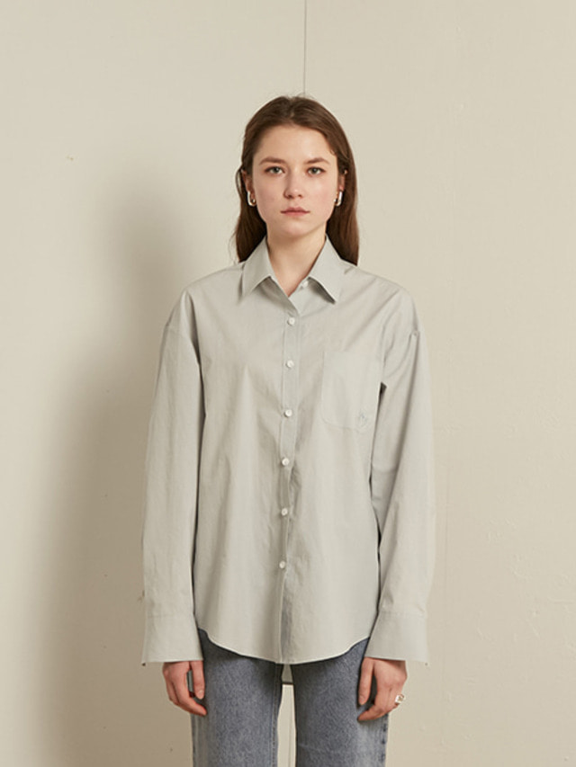 [13month]SOLID COTTON SHIRT (SKY BLUE)