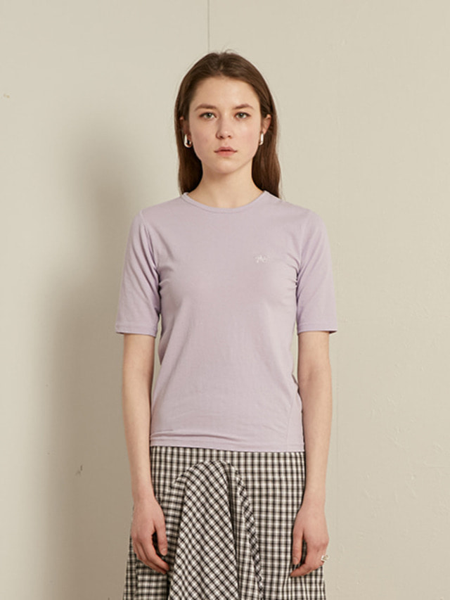 [13month]SLIM ROUND T-SHIRT (PURPLE)
