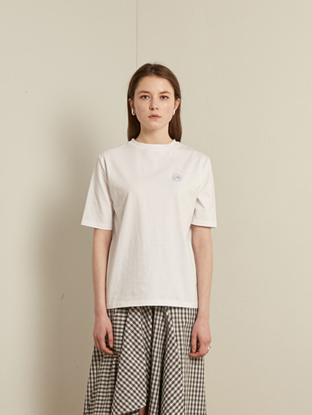[13month]BASIC ROUND T-SHIRT (WHITE)
