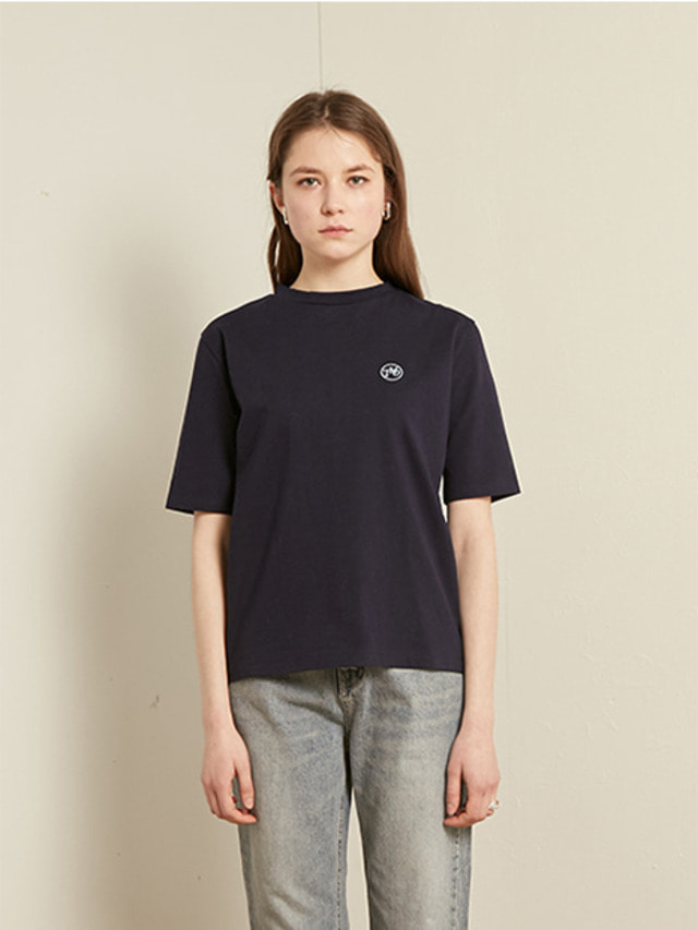 [13month]BASIC ROUND T-SHIRT (NAVY)