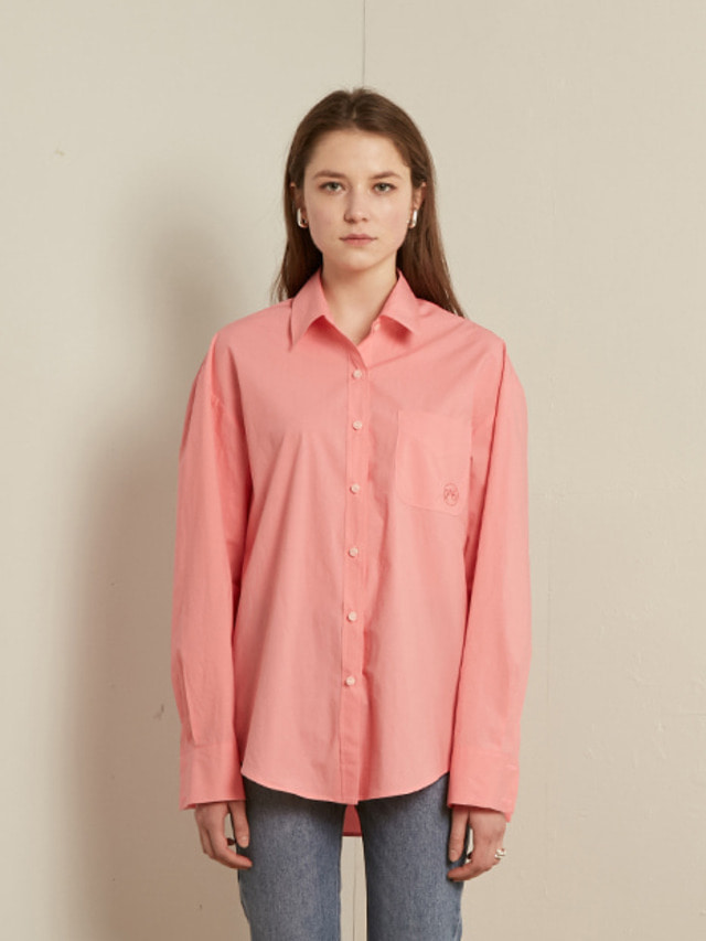 [13month]SOLID COTTON SHIRT (PINK)