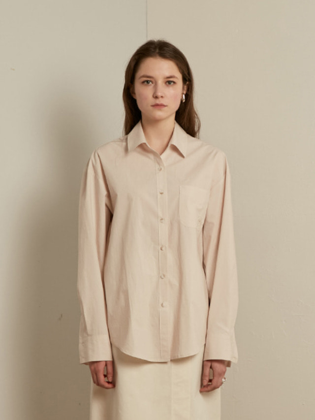 [13month]SOLID COTTON SHIRT (BEIGE)