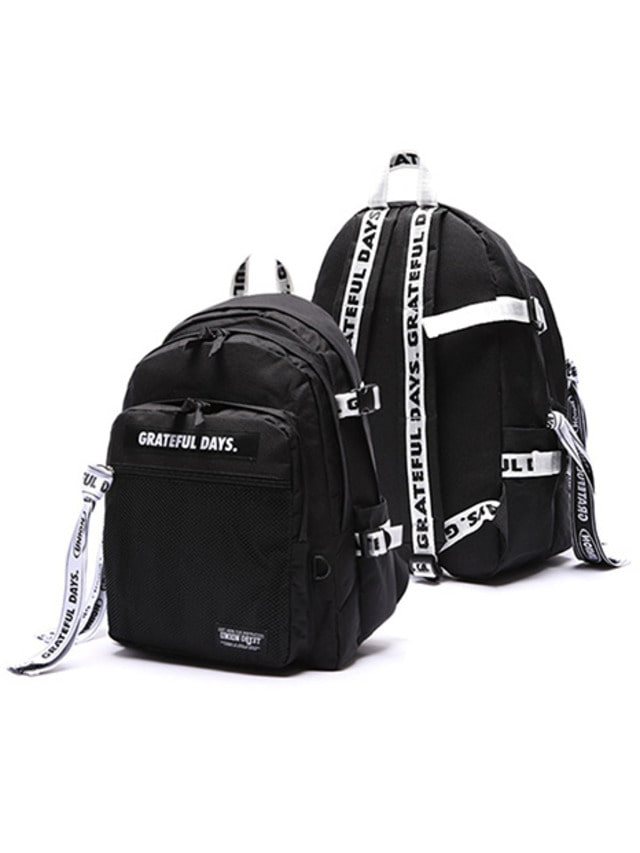 [UNIONOBJET]3D MESH BACKPACK M03 (WHITE BLACK)