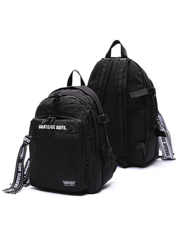 [UNIONOBJET]3D MESH BACKPACK M03 (BLACKBLACK)