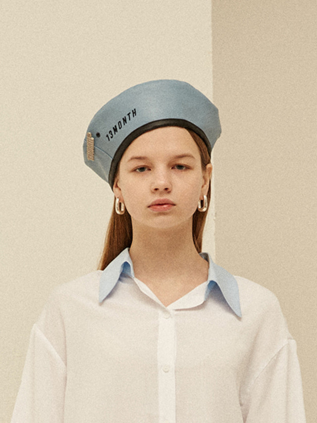 [13month]BROOCH BERET (SKY BLUE)