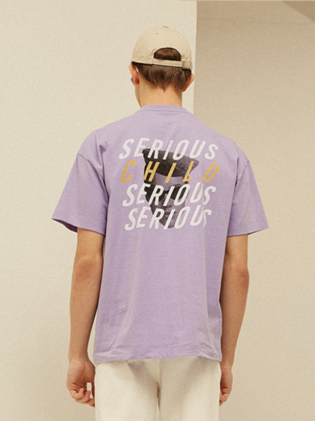 [13month]FOUR LOGO PRINTING T-SHIRT (PURPLE)