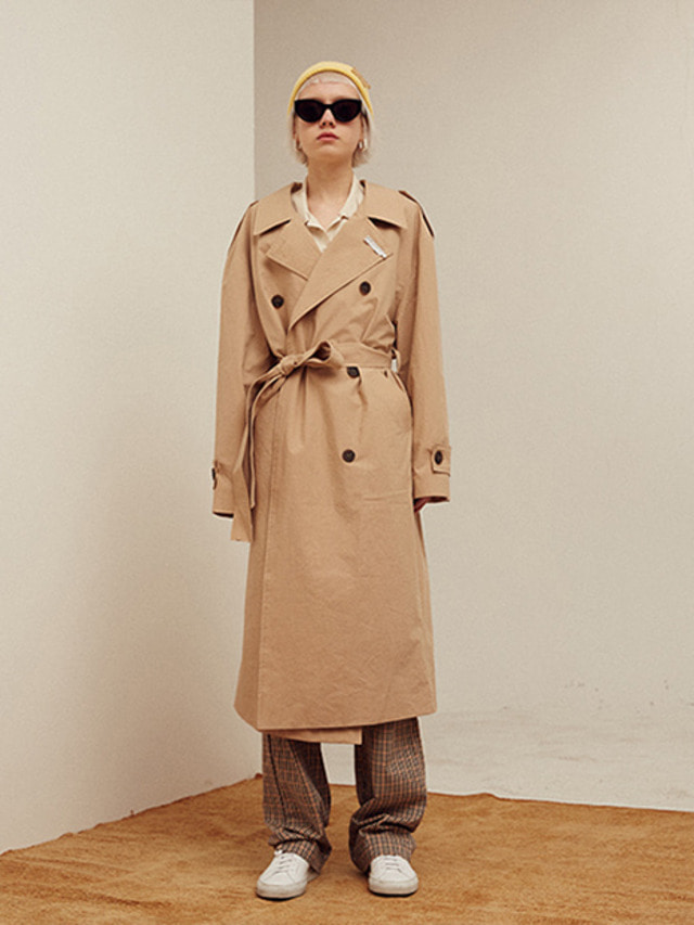 [13month]BACK OPEN LONG TRENCH COAT (BEIGE)