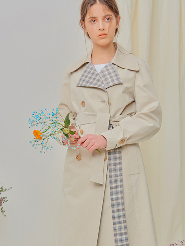 [NUPARCC]Plaid Mix Trench - IV