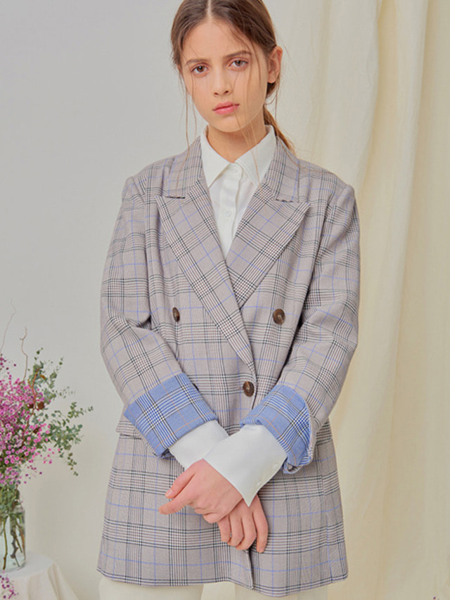 [NUPARCC]Spring Plaid Jacket