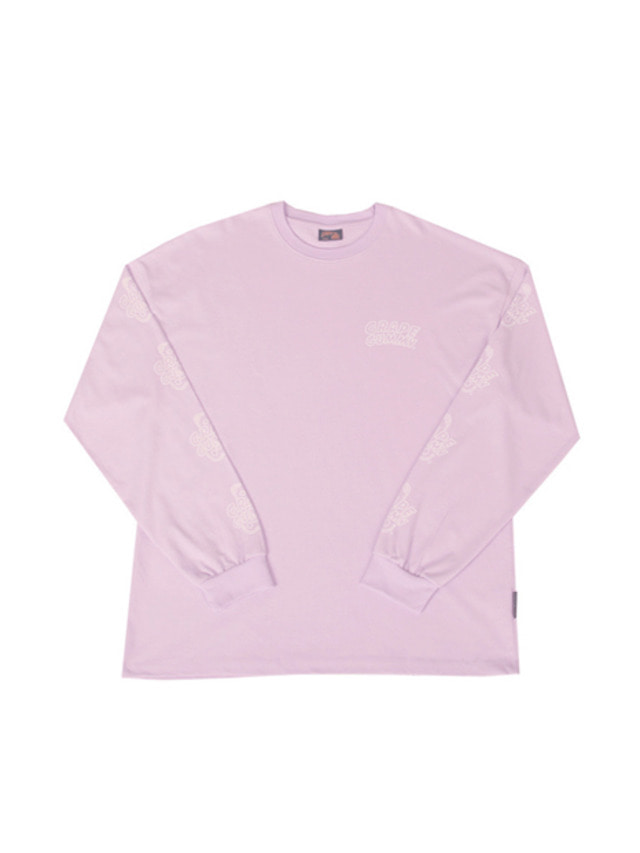 [A PIECE OF CAKE]Grape Gummy Multi-Logo Longsleeve_Violet