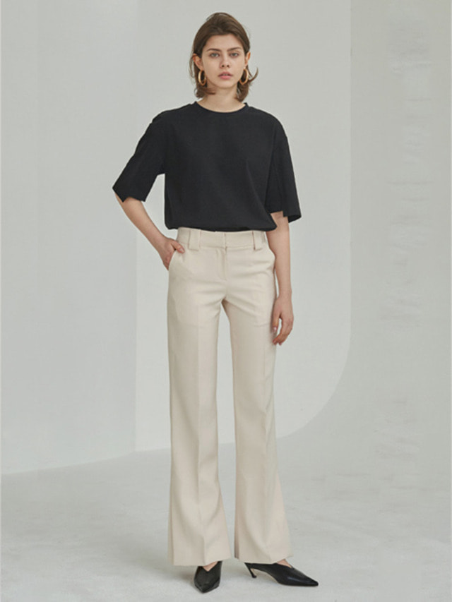 [MOHAN]18SS SLIT FLARED TROUSERS LIGHT