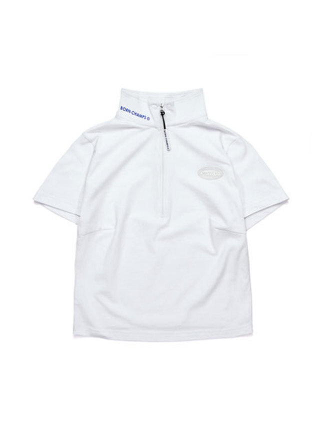 [BORNCHAMPS]W CHAMPS ZIP TEE CERBGTS02WH