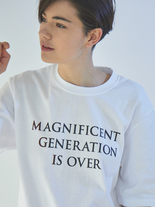 [MGI]SLOGAN T-SHIRTS WHITE
