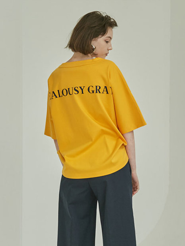 [MOHAN]BACK LETTERING T-SHIRT YELLOW