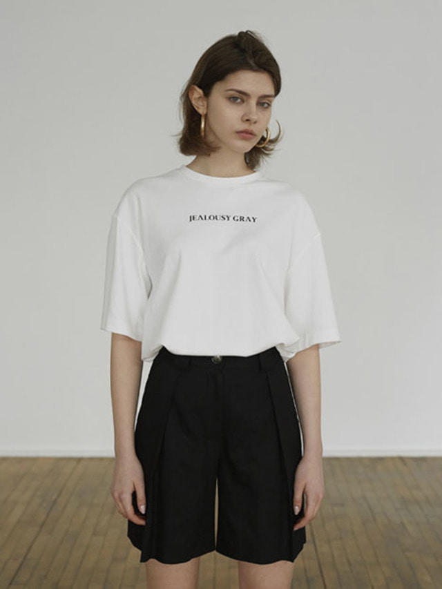 [MOHAN]FRONT LETTERING T-SHIRT WHITE