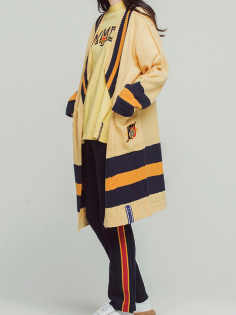 [ROMANTICCROWN] BAND LINE KNIT CARDIGAN BUTTER