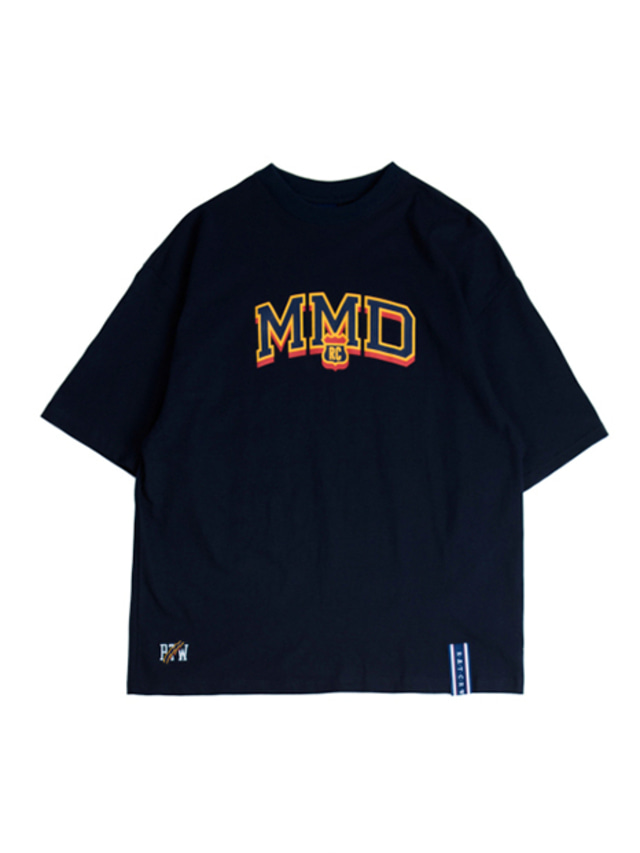 [ROMANTICCROWN] MMD LOGO T_SHIRT NAVY