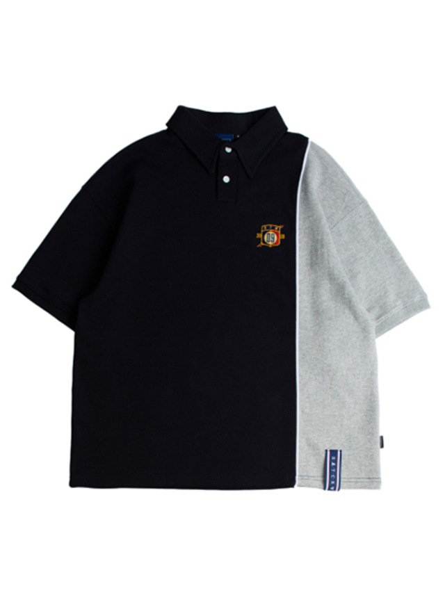 [ROMANTICCROWN] PIPING POLO SHIRTS NAVY