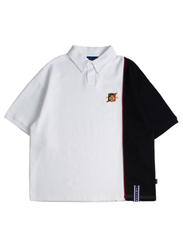 [ROMANTICCROWN] PIPING POLO SHIRTS WHITE