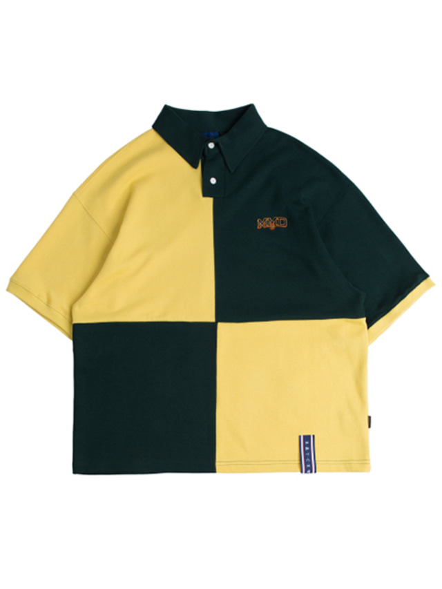 [ROMANTICCROWN] QUARTER BLOCK HALF POLO GREEN