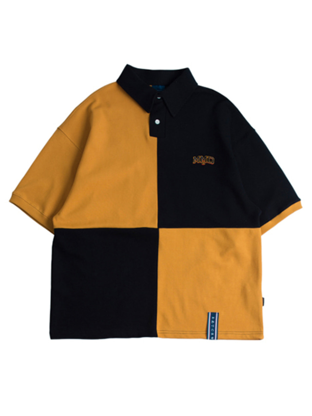 [ROMANTICCROWN] QUARTER BLOCK HALF POLO MUSTARD