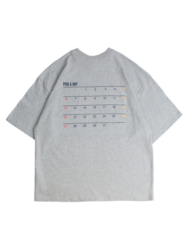 [ROMANTICCROWN] SCHEDULER T-SHIRT GREY