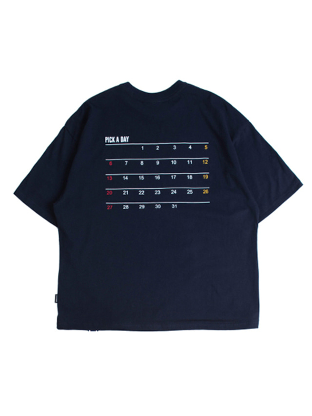 [ROMANTICCROWN] SCHEDULER T-SHIRT NAVY