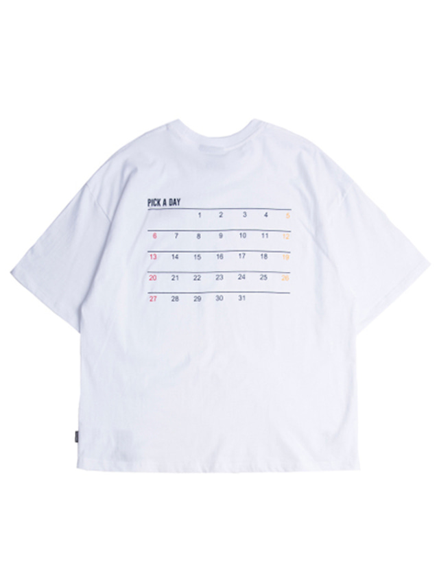 [ROMANTICCROWN] SCHEDULER T-SHIRT WHITE