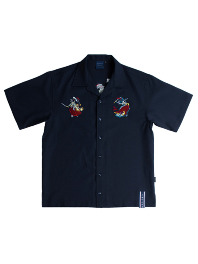 [ROMANTICCROWN] SOUVENIR SHIRTS NAVY