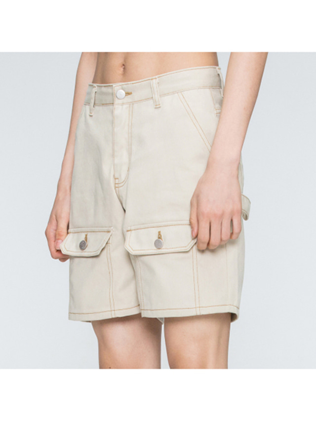 [ROMANTICCROWN] TWO WAY POCKET PANTS BEIGE