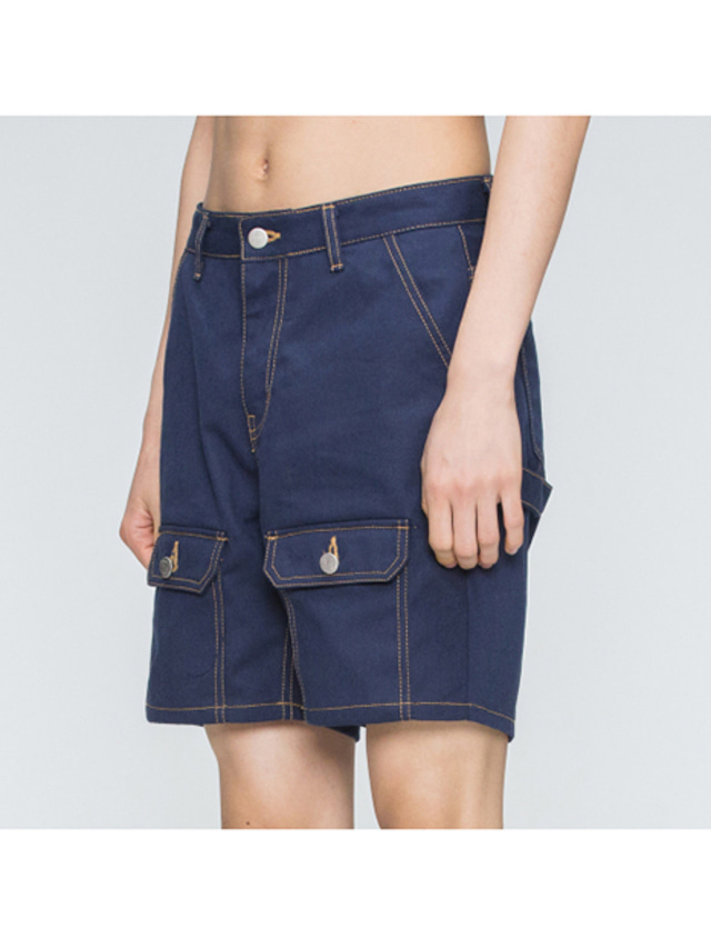 [ROMANTICCROWN] TWO WAY POCKET PANTS NAVY