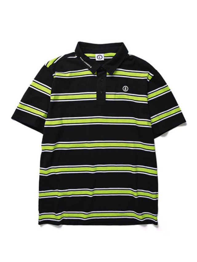 [BORNCHAMPS]BC STRIP POLO TEE GREEN CERBMPQ01GR