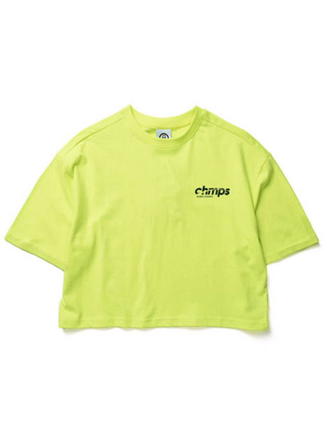 [BORNCHAMPS]CROP SIDE LOGO TEE LIME CERBGTS04LI