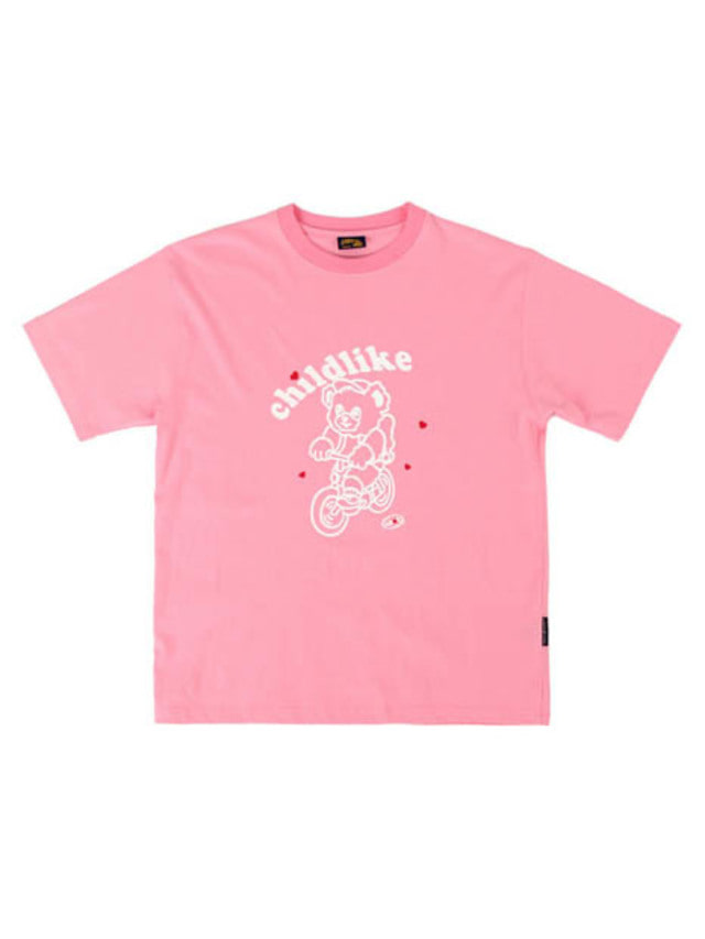 [APOC]Bicycle Bear 1/2 T-shirts_Pink