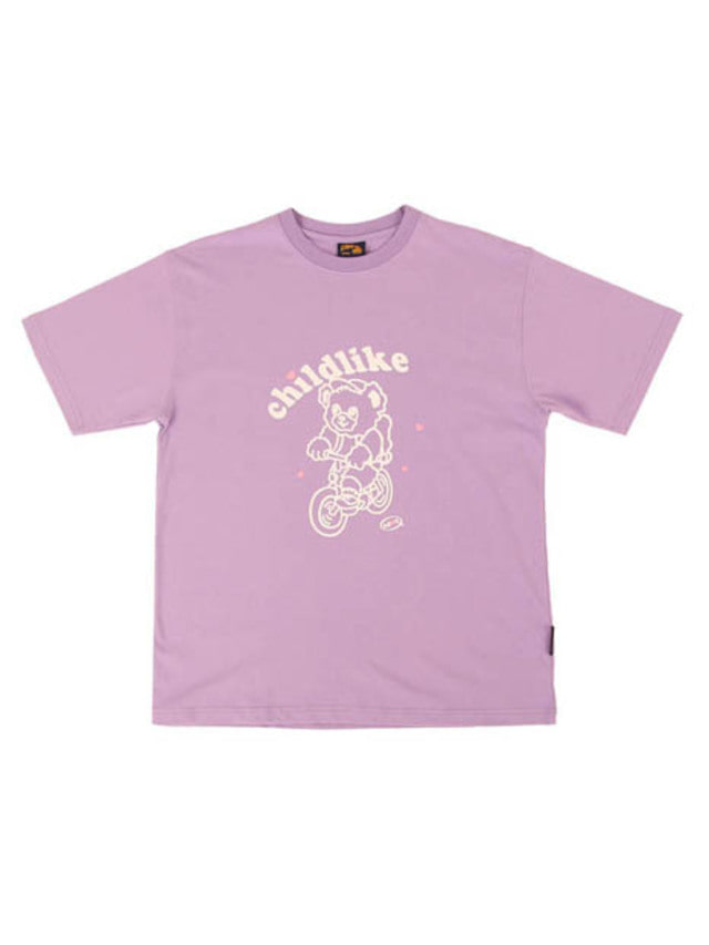 [APOC]Bicycle Bear 1/2 T-shirts_Violet