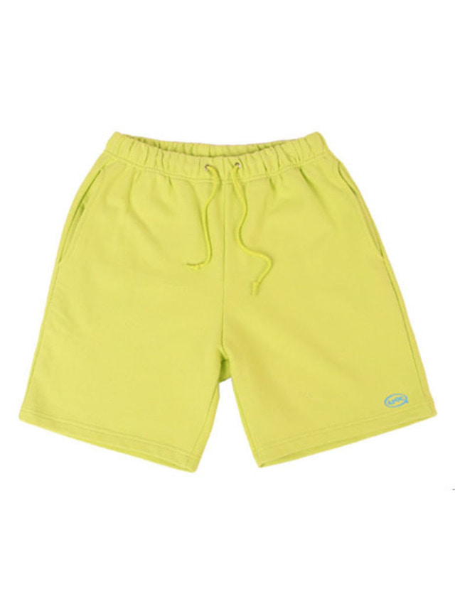 [APOC]Oval Logo 1/2 Pants_Lime